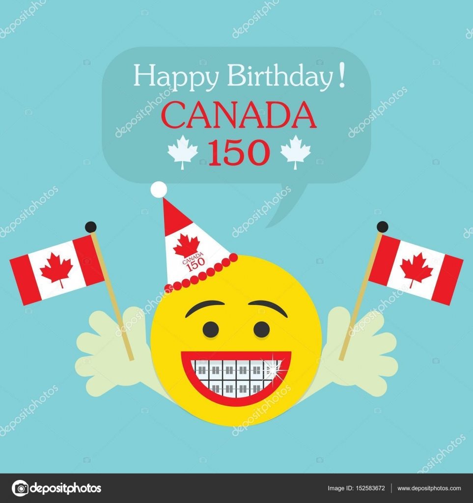 happy birthday teeth ; depositphotos_152583672-stock-illustration-happy-birthday-canada-150-emoji