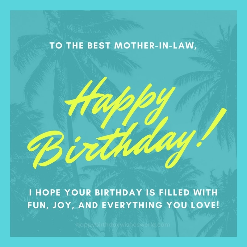 happy birthday to my sister from another mother message ; To-the-best-mother-in-law-happy-birthday