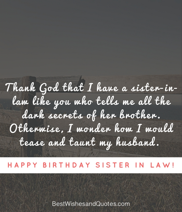 happy birthday to my sister from another mother message ; happy-birthday-sister-in-law