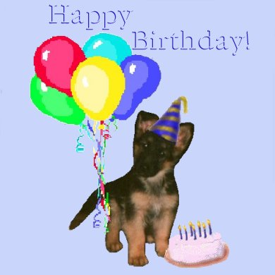 happy birthday to you in german ; gsdbday7