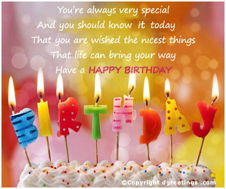 happy birthday to you message ; thoughtful-things