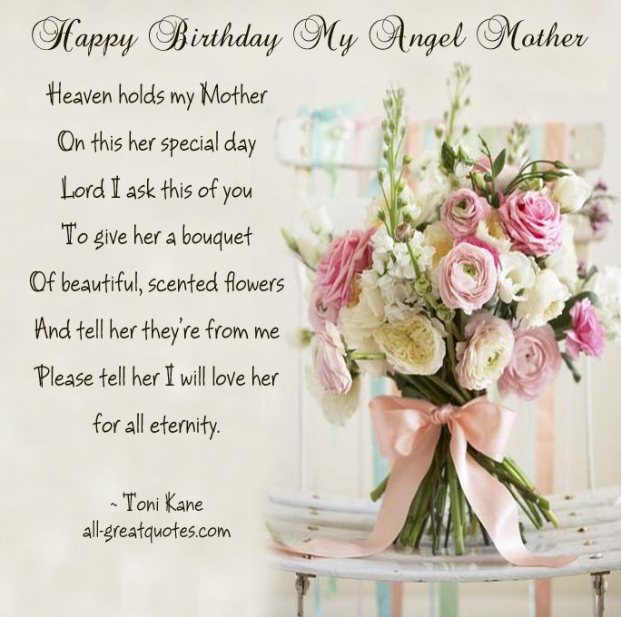 happy birthday to your mom in heaven ; 646dc069bf49959eae66f5f631f6cfab--happy-birthday-wishes-birthday-angel