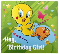 happy birthday tweety ; 4aaed636f1327200f543f4375f271710--birthday-greeting-card-birthday-greetings
