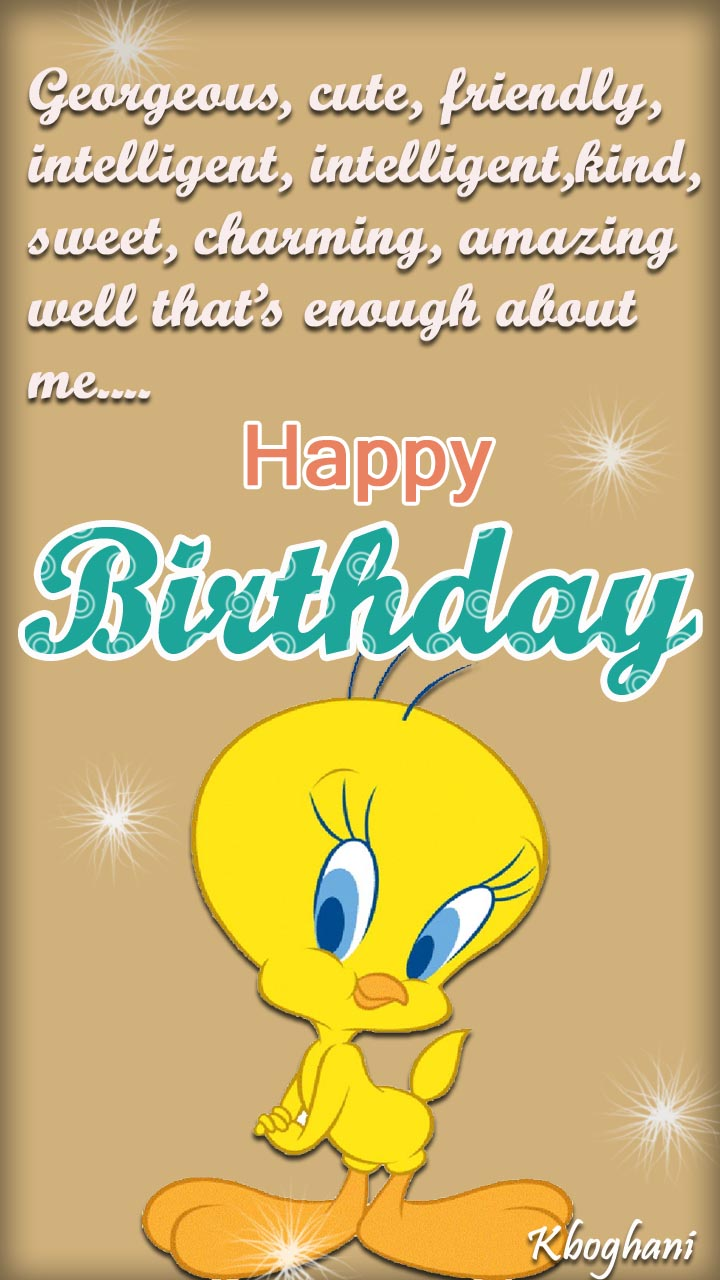 happy birthday tweety ; b9