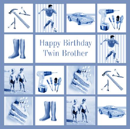 happy birthday twin brother card ; 8903_450