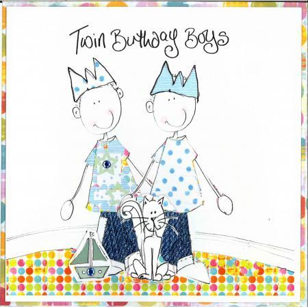 Happy Birthday Twin Brother Card Cards For Twins