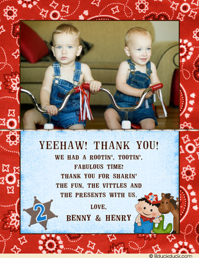 happy birthday twin brother card ; little-cowboy-twin-boys-thank-you-photo-card-wide