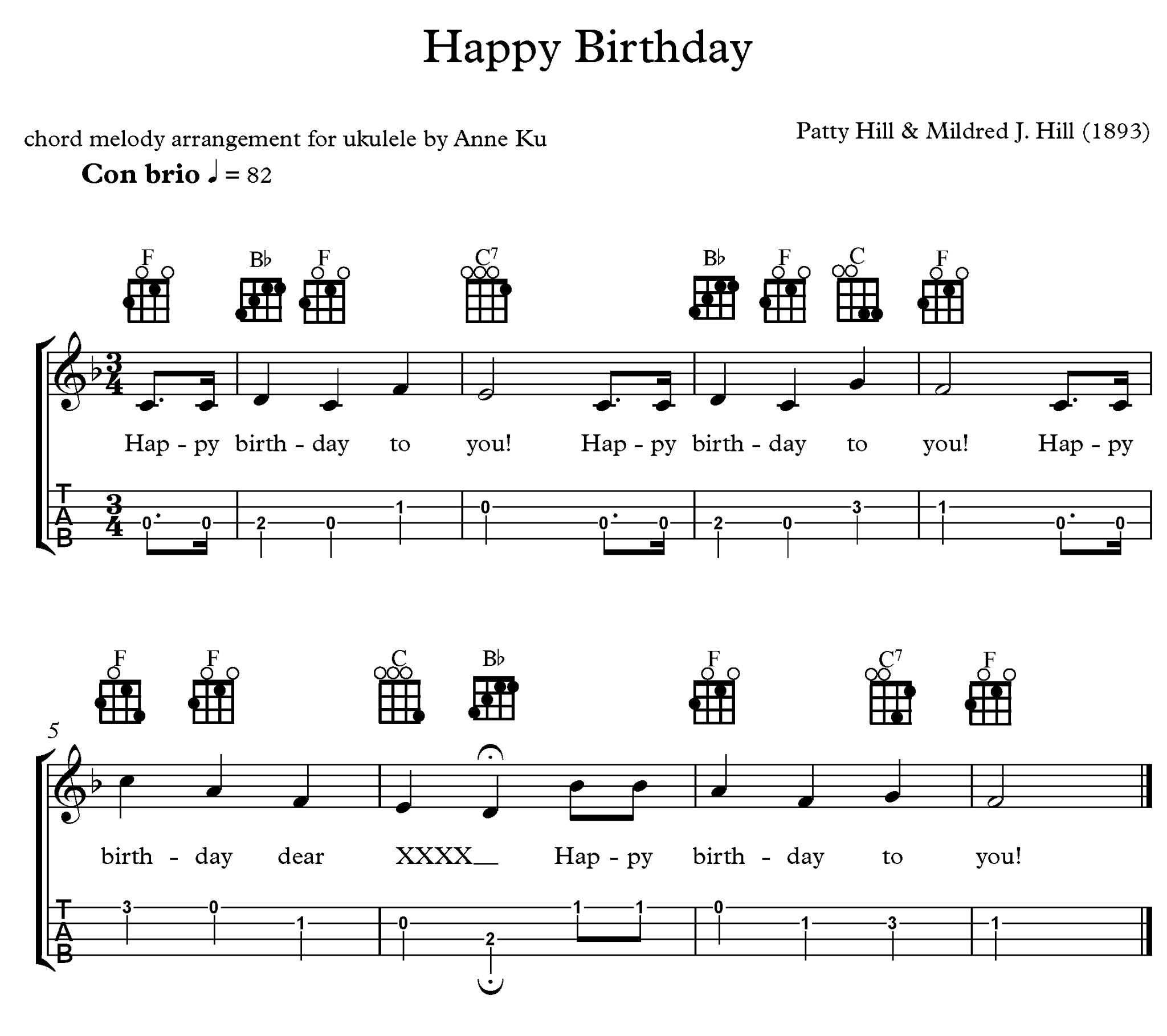 happy birthday ukulele ; 19023745_10155257218421083_8502305697858539014_o