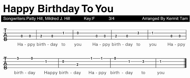 happy birthday ukulele ; HAPPY+BIRTHDAY+TAB