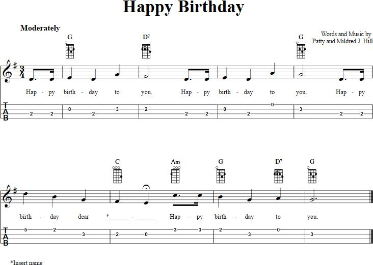 happy birthday ukulele ; happy-birthday-ukulele
