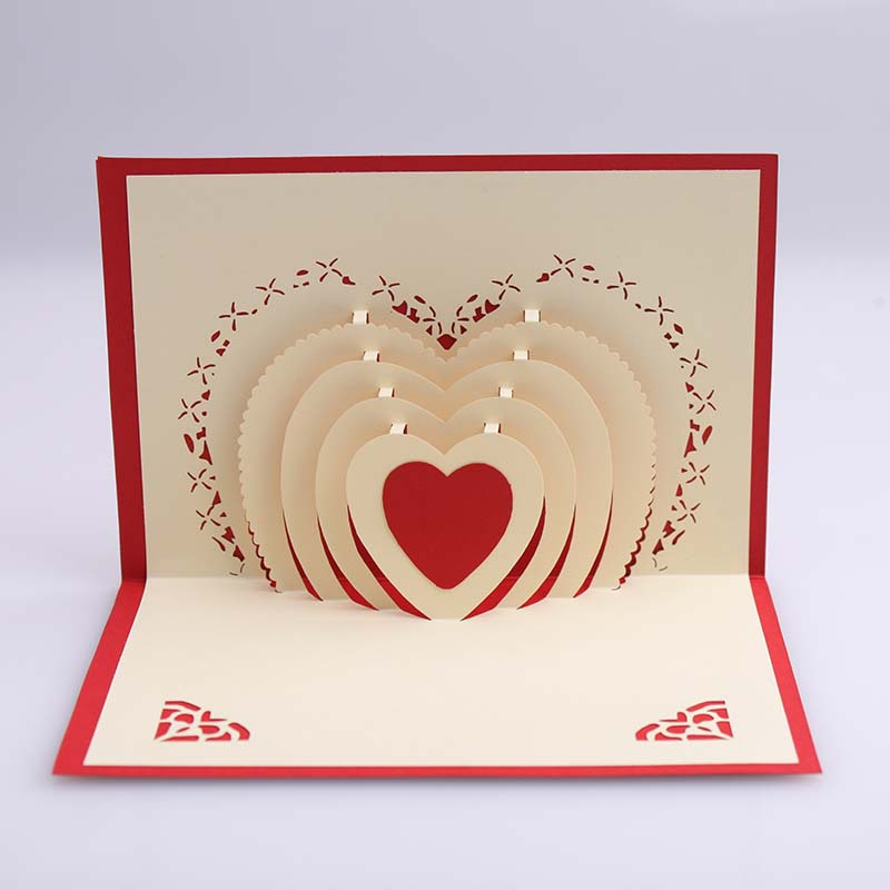 happy birthday valentine greeting cards ; 3D-Pop-Up-Heart-Shape-Card-Postcards-Greeting-Card-Decoration-Happy-Anniversary-Birthday-Valentine-Christmas