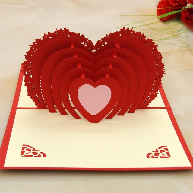 happy birthday valentine greeting cards ; New-Year-Merry-Christmas-Gift-Love-Heart-Shaped-Valentine-Lover-Happy-Birthday-Greeting-Card