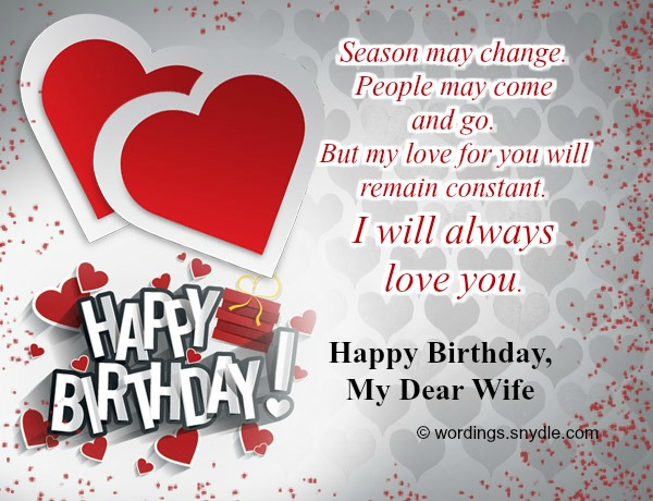 happy birthday wife status message ; sweet-birthday-wishes-for-wife