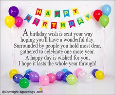 happy birthday wish you have a good one ; 6d3ef4c9712d232d07fc90431eefd151