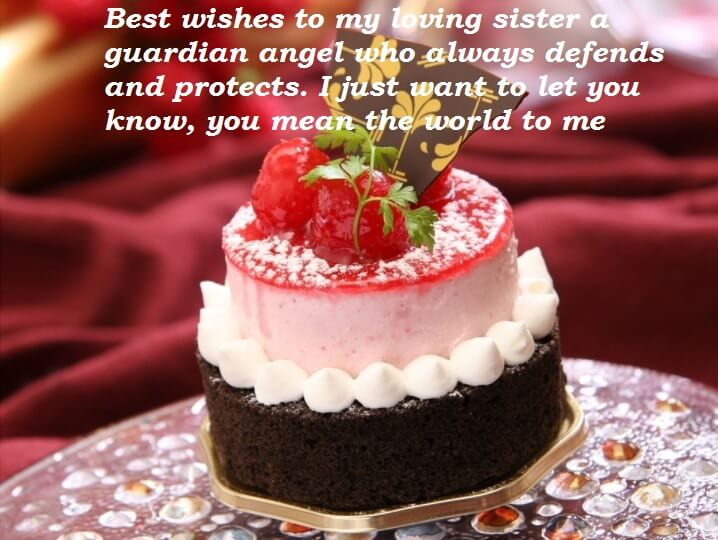 happy birthday wishes cake ; Cute-Birthday-Cake-Wishes-For-Sister