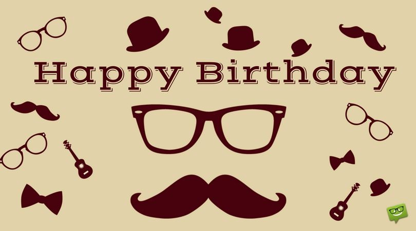 happy birthday wishes for a guy ; Happy-Birthday-to-a-Hipster-man-on-picture-with-icons-of-glasses-and-bow-tie
