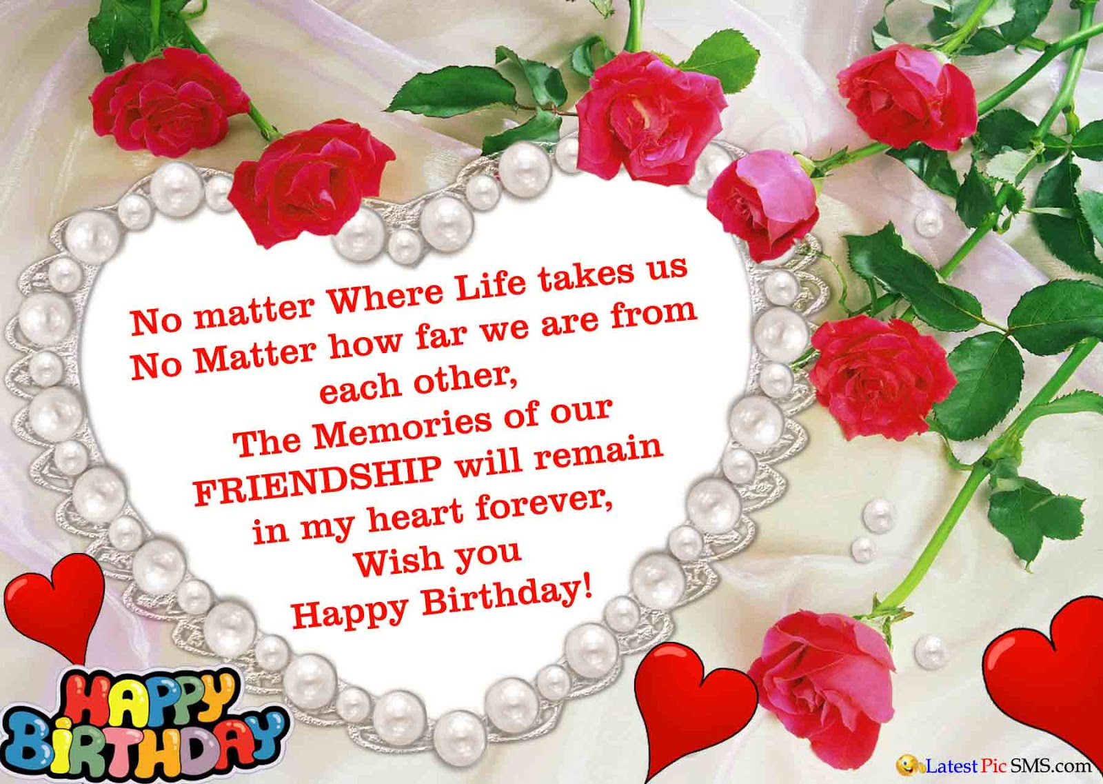 happy birthday wishes for friend message in english ; happy-birthday-wishes-love-heart-shape-photos