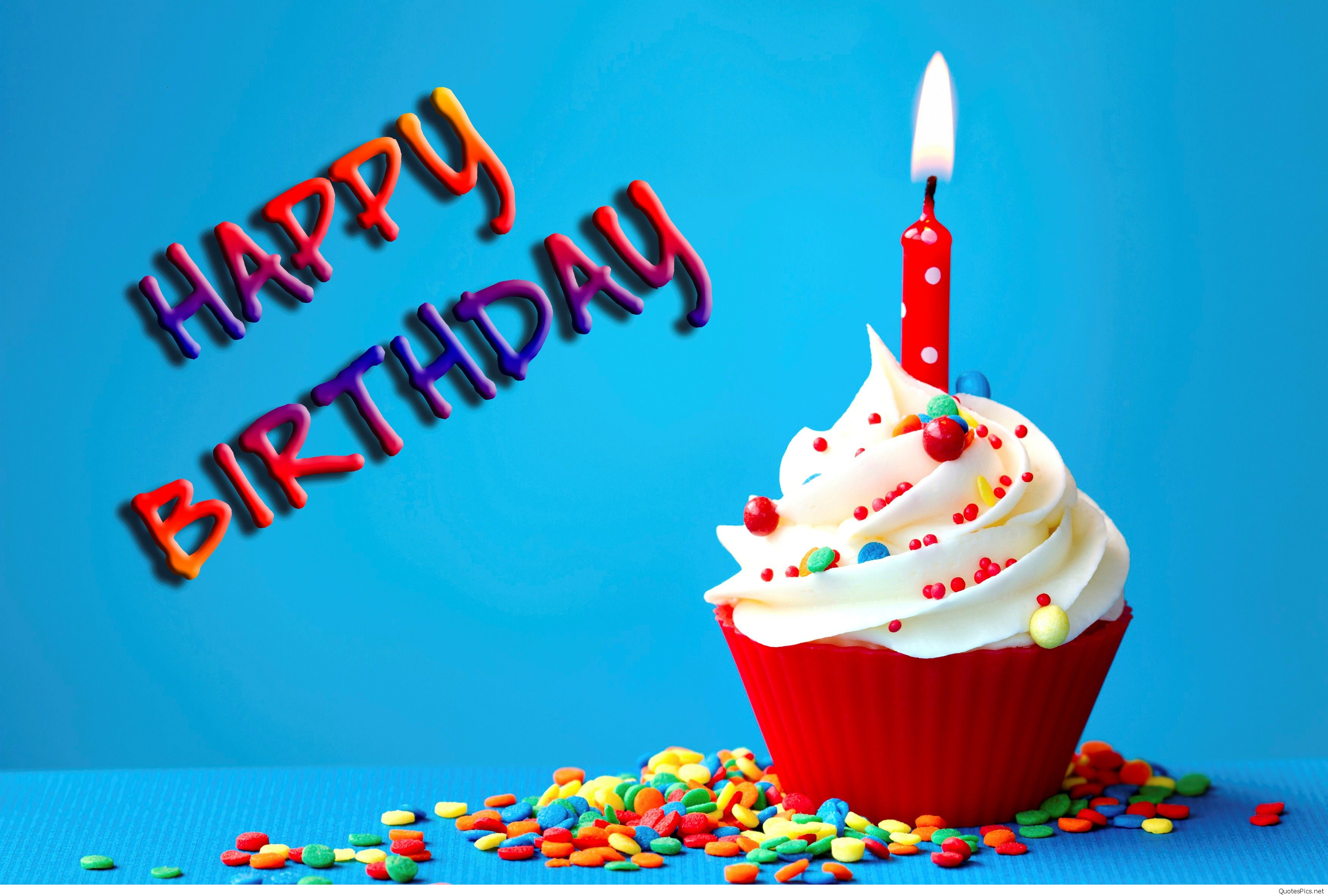 happy birthday wishes hd ; Amazing_Birthday_Wish_with_Cake_and_Candle_Wallpaper