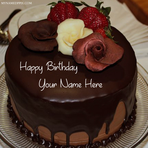 happy birthday with name ; Special-Name-Wishes-Happy-Birthday-Chocolate-Cake-Pics