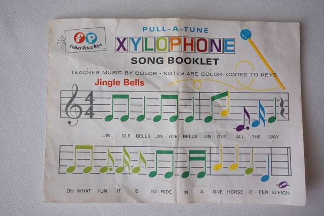 happy birthday xylophone ; fisher_price_870_song_booklet_1