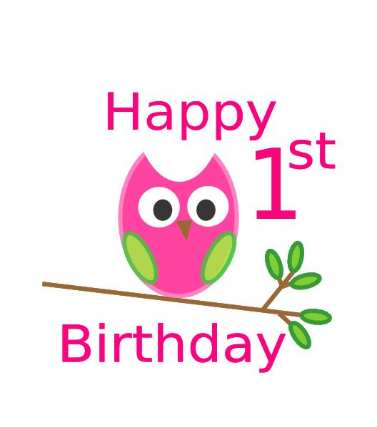 happy first birthday ; owl-1st-birthday-hi