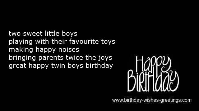 happy first birthday card sayings ; twins-birthday-card-wishes