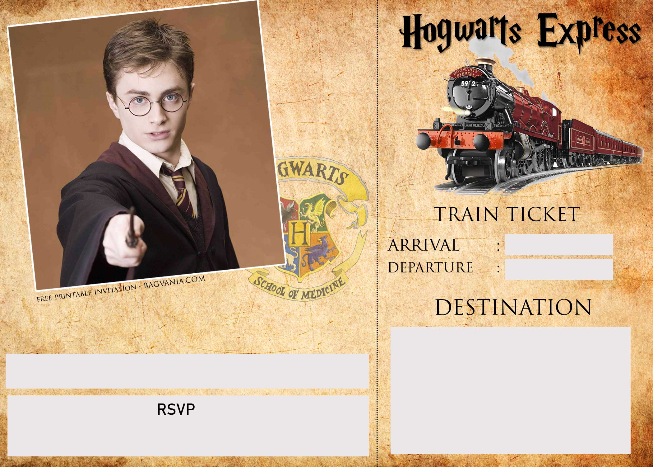 harry potter birthday card template ; Blank-Harry-Potter-Invitation-Template