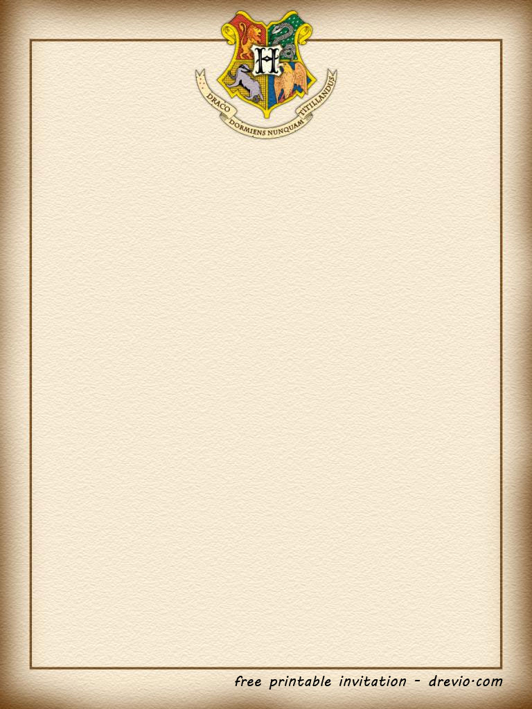harry potter birthday card template ; FREE-Blank-Hogwarts-Invitation-Template-Formal-form