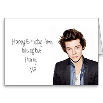 harry styles happy birthday card ; 41X11iJNxHL