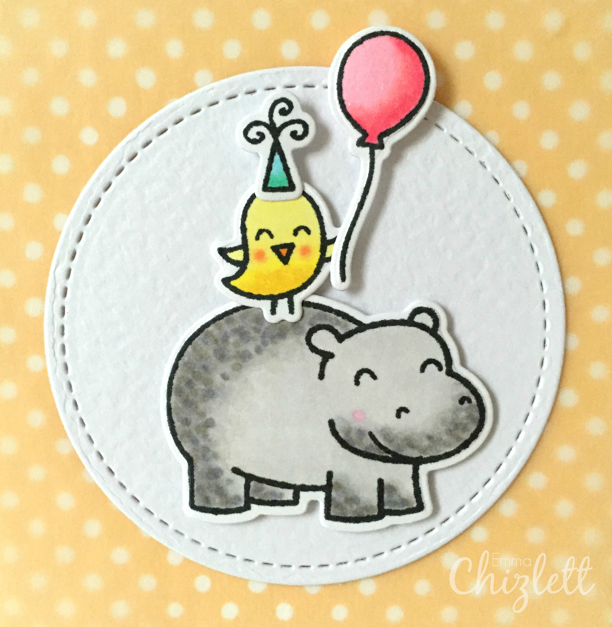 hippo birdie birthday card ; Hippo-birdie-to-you-card-close-up-with-watermark