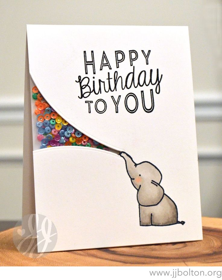 homemade birthday card ideas for friends ; 35e9a8acebef1f0eeb2b6d7637c2fa1f--elephants-papercraft