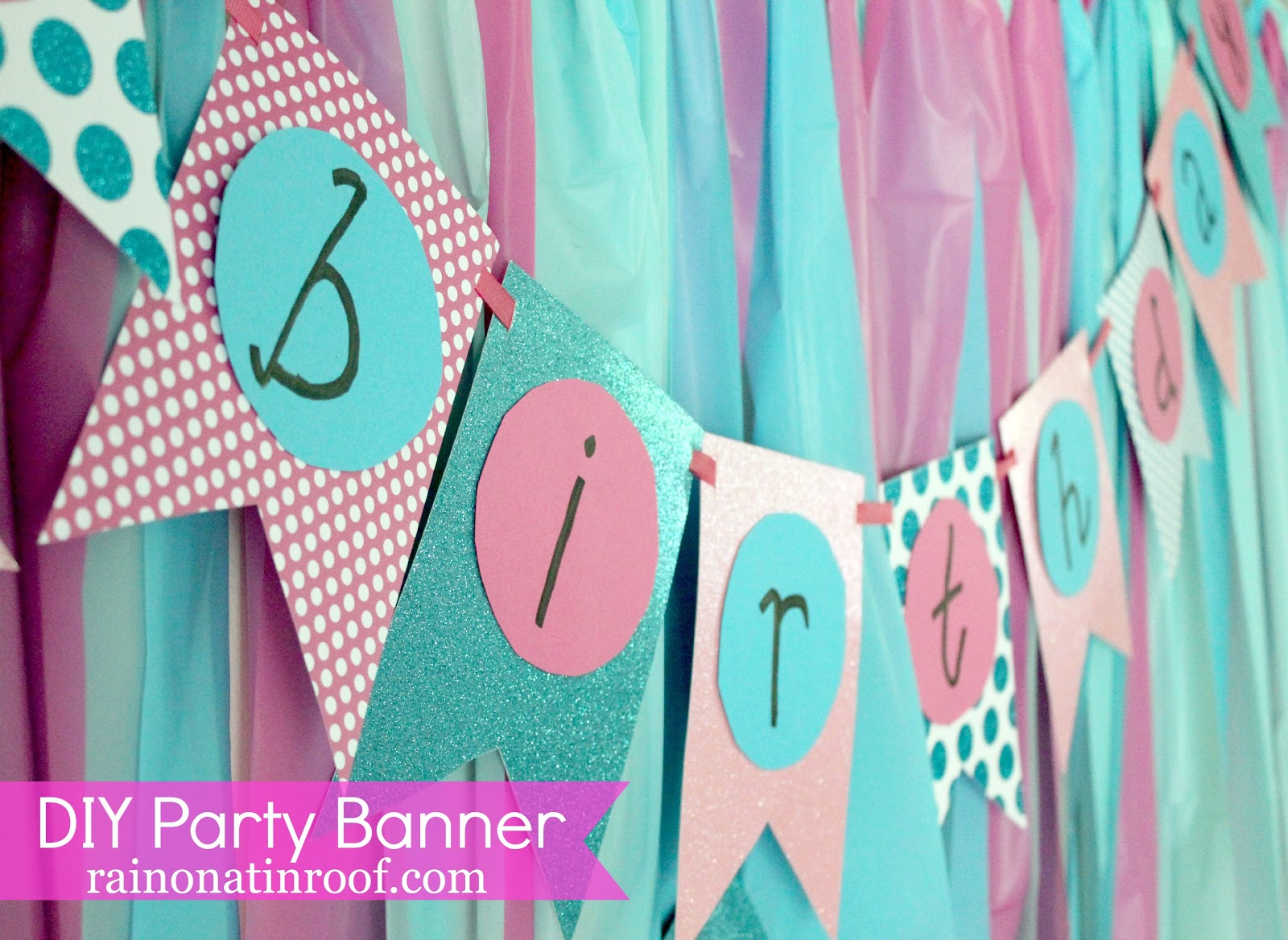 homemade birthday hat template ; DIY+Party+Banner