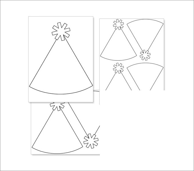 homemade birthday hat template ; Party-Hat-Template-Printable