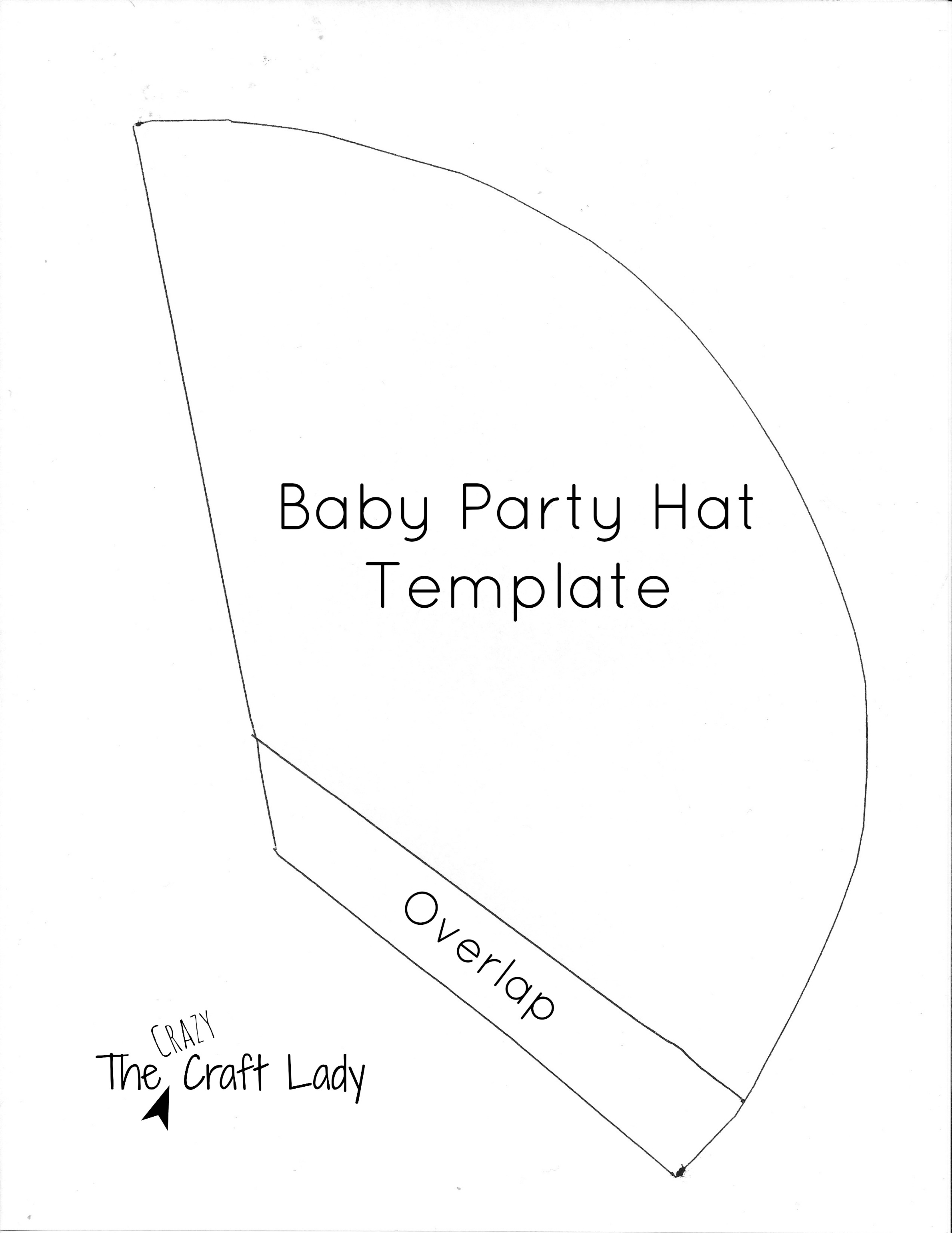 homemade birthday hat template ; ba-party-hats-and-free-printable-template-the-crazy-craft-lady-party-hat-template