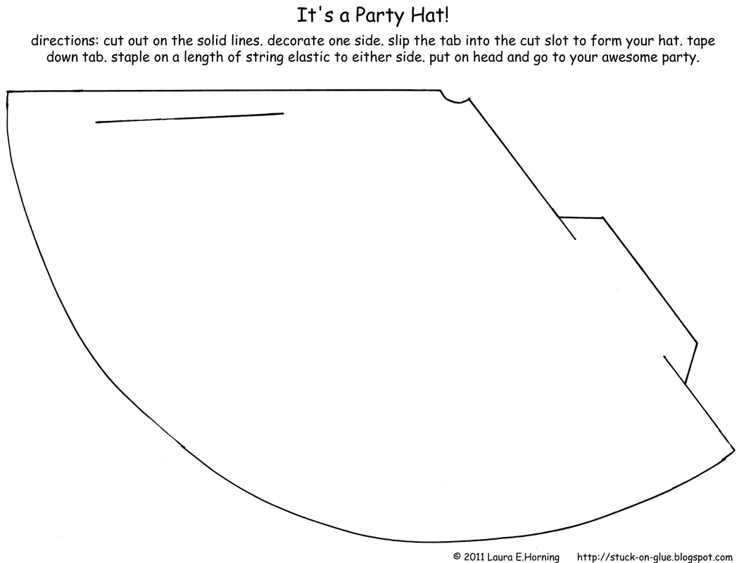 homemade birthday hat template ; party_hat