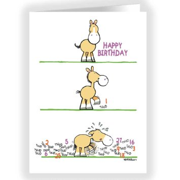 horse birthday card sayings ; funny-birthday-card-horse-taps-out-number-of-birthdays-1_13387259