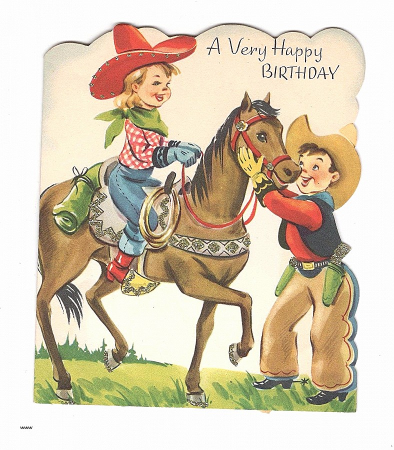 horse birthday card sayings ; horse-birthday-card-sayings-awesome-cowgirl-birthday-card-fresh-vintage-birthday-greeting-card-glitter-of-horse-birthday-card-sayings