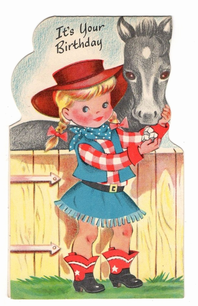 horse birthday card sayings ; hunting-birthday-card-sayings-horse-birthday-card-sayings-lovely-vintage-buzza-cardozo-birthday-greeting-card-adorable-cowgirl-of-horse-birthday-card-sayings