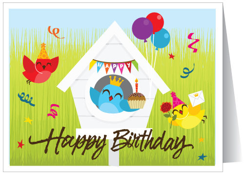 house birthday card ; 15207_happybirthday_to_house_realestate_greetingcards