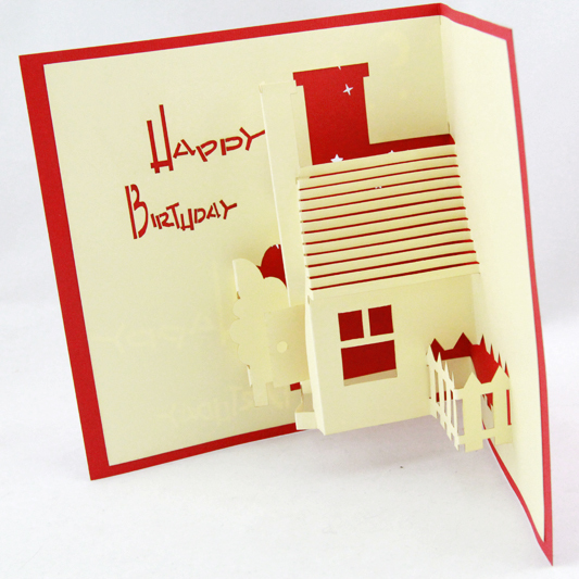 house birthday card ; House-Birthday-card-3D-card-pop-up-card-happy-day-birthday-party-card-customize-Free-shipping