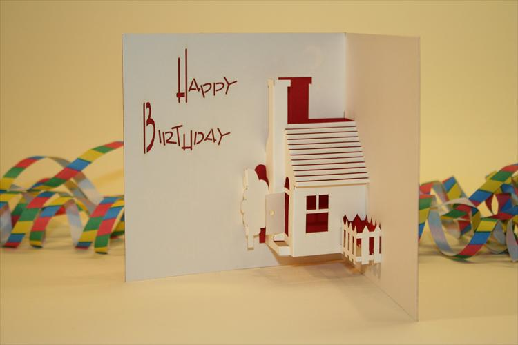 house birthday card ; QN002RInside