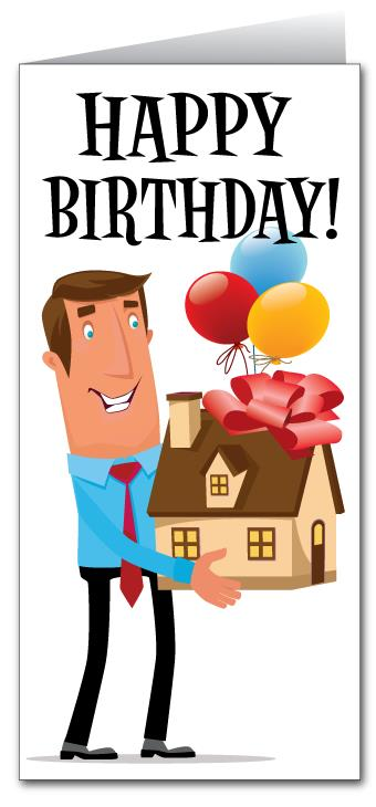 house birthday card ; RealEstate_realtor_happybirthday_to_your_house_greeting_card