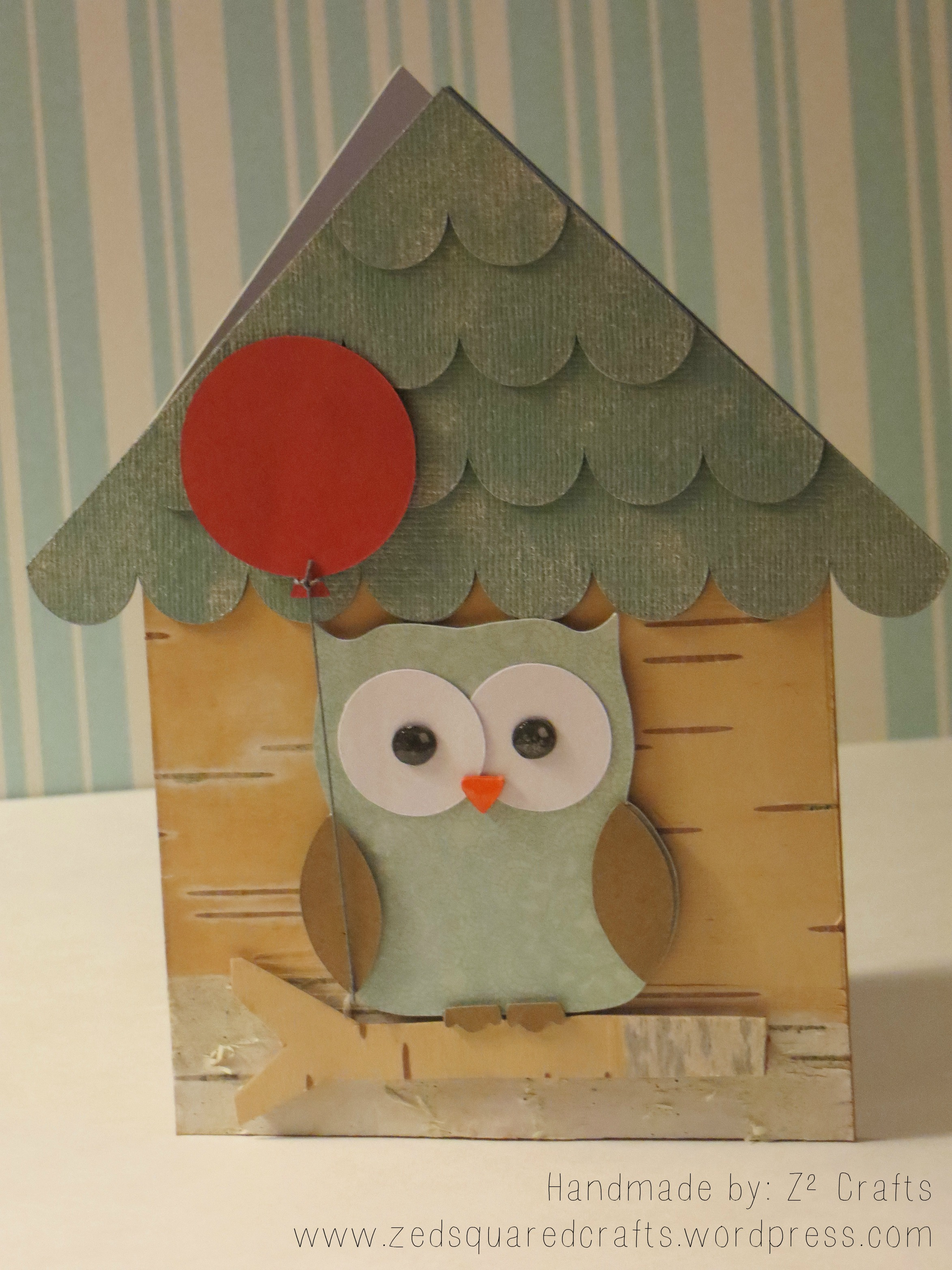 house birthday card ; bird-house-birthday-card