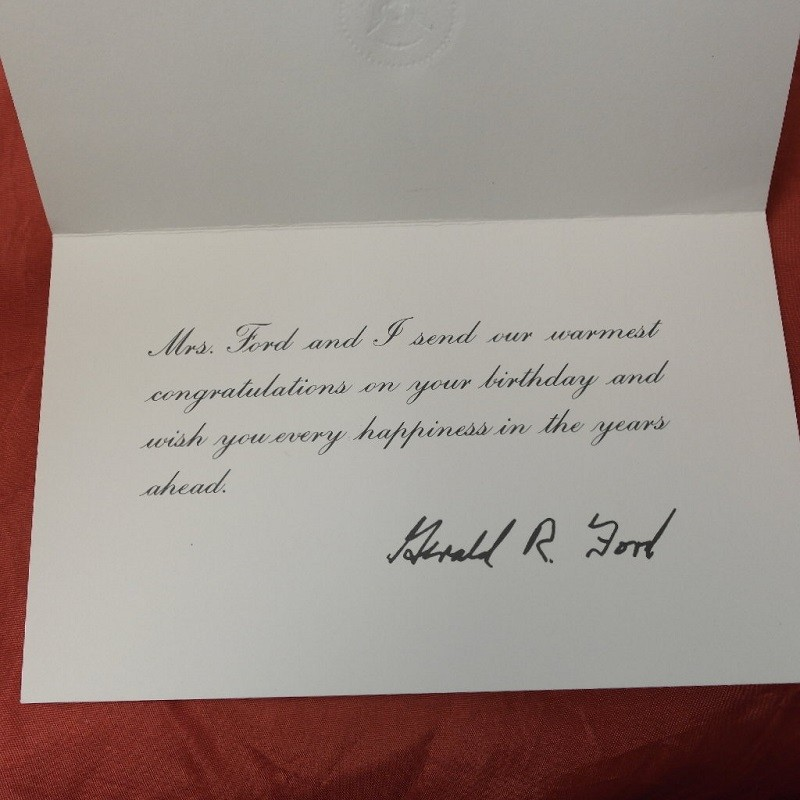 house birthday card ; gerald-ford-card