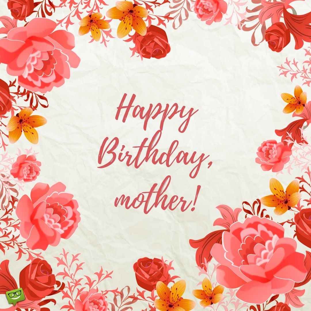 i want to wish my mother a happy birthday ; Birthday-wish-for-mom-on-red-floral-background