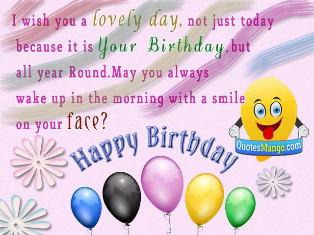 i wish you happy birthday and all the best ; 79a712bf1f5baf7e85127543d1e00807