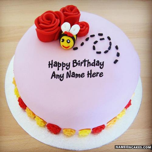 image of birthday wishes with name ; bumble-bee-best-cakes-for-birthday-wishes-with-name3d03