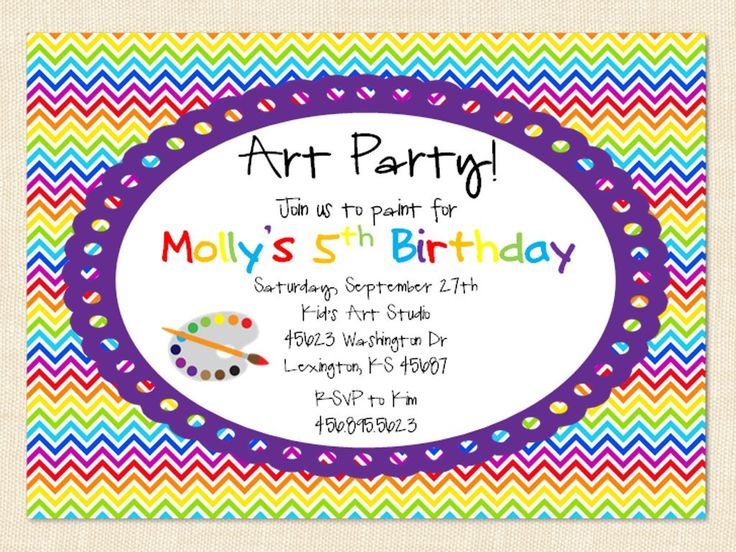 invitation for birthday party text kid ; 86daed259ce52659eccc993dadf09427--art-party-invitations-invitation-wording