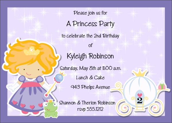 invitation for birthday party text kid ; Kids-Birthday-Invitation-Wording
