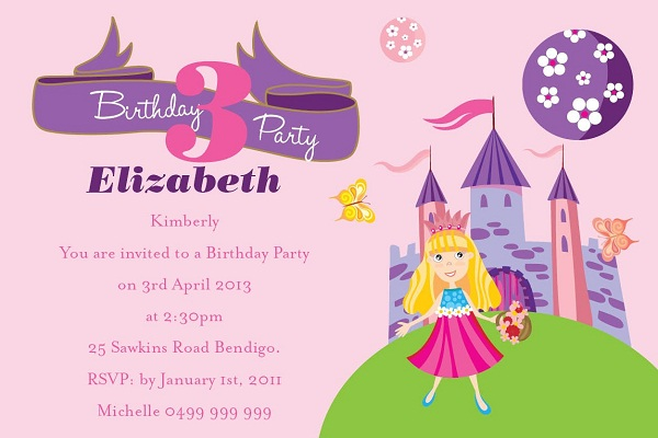 invitation for birthday party text kid ; birthday-invitation-template